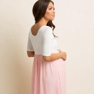 Pinkblush Dresses - Pinkblush Lavendar Colorblock Maxi Dress - Small
